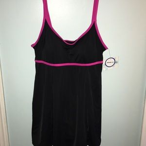 Swimsuits for all black and pink size 12